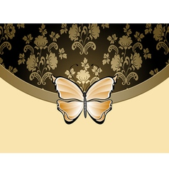 beige flower background vector image