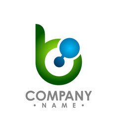 Business corporate letter b logo design colorful vector