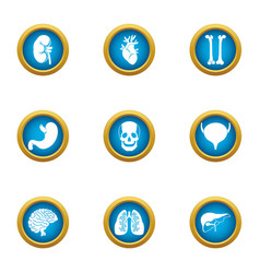 Carcass icons set flat style vector