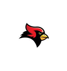 Cardinal bird symbol logo vector
