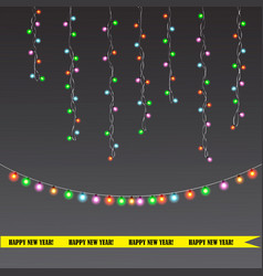 christmas and new year light garland vector image