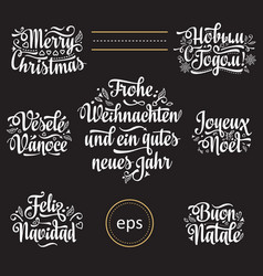 Christmas template christmas lettering vector