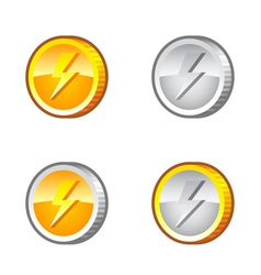 Coins with lighting vector