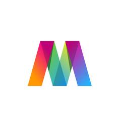 color letter m logo icon design vector image