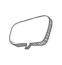 Comic bubble draw vector