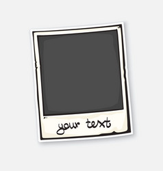 cute instant photo frame with caption below vector image