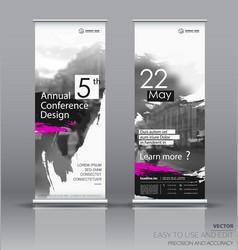 Design a roll up vertical banner vector
