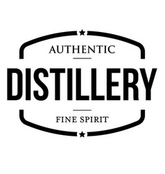 Distillery fine spirit vintage sign stamp vector