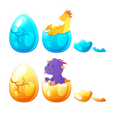 dragon hatched from egg vector image