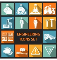 Flat Engineering Icons Set vector image