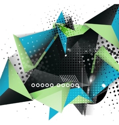 Geometric triangle 3d design abstract background vector