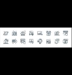 Home line icons linear set quality line set vector