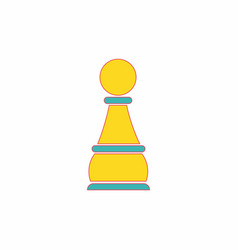 In flat style chess pawn vector