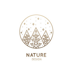 Logo abstract forest vector