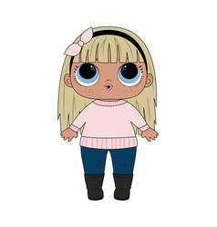 lol girl badolls vector image