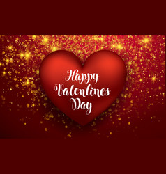luxury elegant happy valentine day festive sparkle vector image