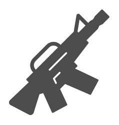 m16 machine gun solid icon automatic gun vector image