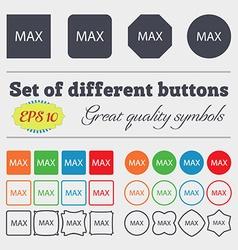 Maximum sign icon Big set of colorful diverse vector