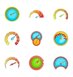 Meter icons set cartoon style vector