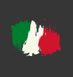Mexico flag brush painted mexico flag hand drawn vector