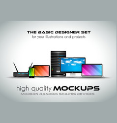 Modern devices mockups for your business projects vector