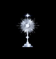 Monstrance silver ostensorium used roman catholic vector