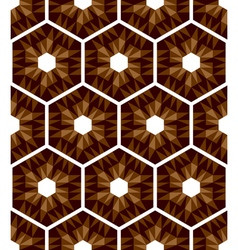 Mosaic hexagons pattern vector