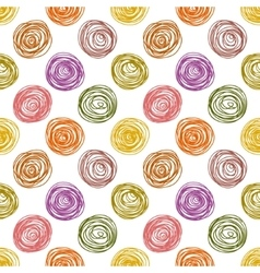 Pastel colored doodle circles simple geometric vector