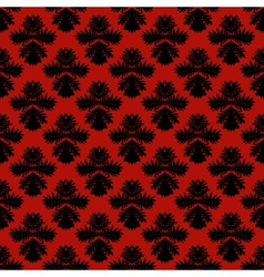 Pattern with damask motifs in rich red vector