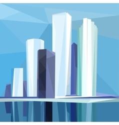 Polygonal city vector image