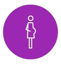 Pregnant woman line icon vector
