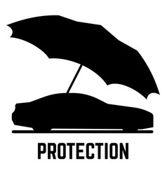 protection or insurance car and umbrella vector image