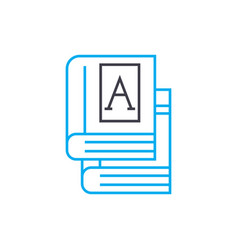 school books linear icon concept school books vector image