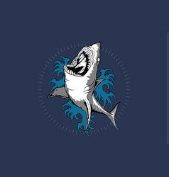 shark tattoo art vector image