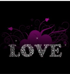 shining love vector image