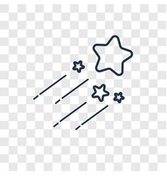 Shooting star concept linear icon isolated on vector
