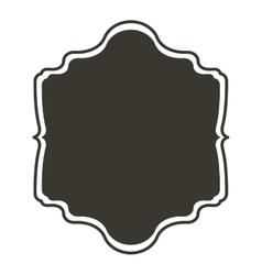 Silhouette border heraldic with decorative design vector