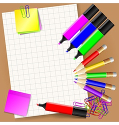 stationery set vector image