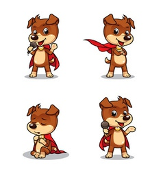 Superhero Puppy Dog 01 vector