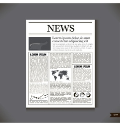 The newspaper with a headline News vector