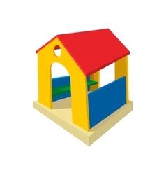 Toy house cartoon icon vector
