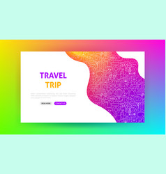 Travel trip landing page vector