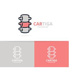 Unique backbone and spine logo design template vector