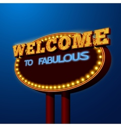 Vegas night life billboard sign poster vector