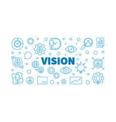 vision blue outline business vector image