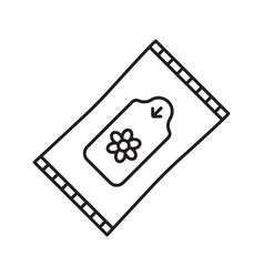 wet wipes linear icon vector image