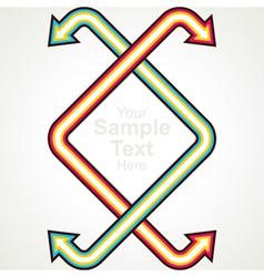 arrow stock background vector image