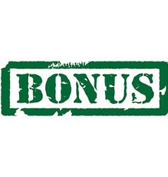 Bonus stamp vector image