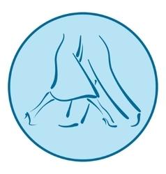 Dance school logo vector image