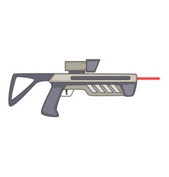 futuristic ray gun weapon icon cartoon style vector image